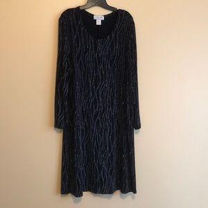August Max Women Black Sparkling Dress Size 22W